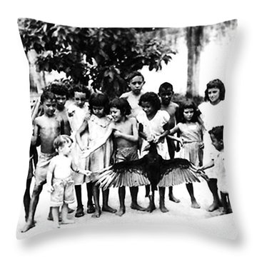 In The Amazon 1953 Throw Pillow by W E Loft