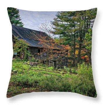 In The Garden Throw Pillow by Priscilla Burgers