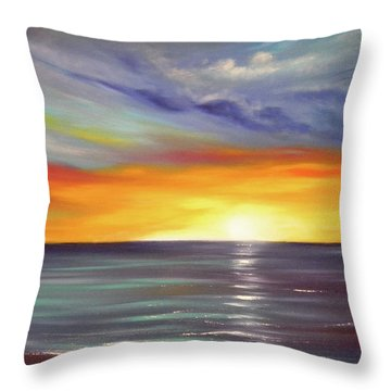 In The Moment Throw Pillow by Gina De Gorna