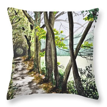 In The Woods Throw Pillow by Svetlana Sewell