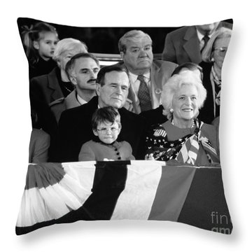 Inauguration Of George Bush Sr Throw Pillow by H. Armstrong Roberts/ClassicStock