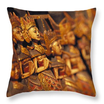 Indonesian Dolls Throw Pillow by Dana Edmunds - Printscapes