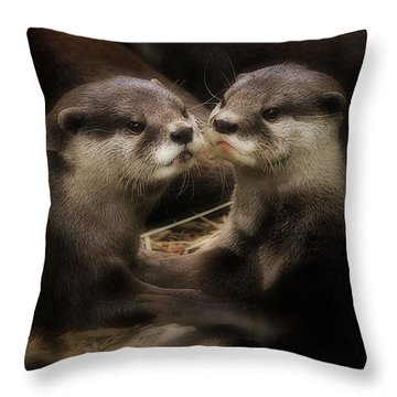 Innocence Throw Pillow by Kym Clarke