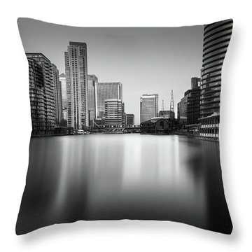 Inside Canary Wharf Throw Pillow by Ivo Kerssemakers