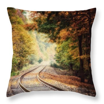 Into The Fog Throw Pillow by Lisa Russo