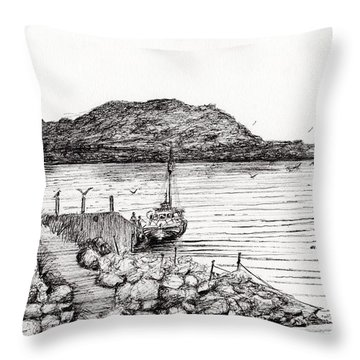 Iona From Mull Throw Pillow by Vincent Alexander Booth