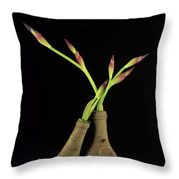 Iris Throw Pillow by Bernard Jaubert
