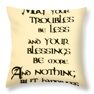 Irish Blessing Throw Pillow by Bill Cannon