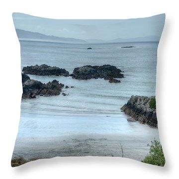 Irish Tidal Pool Throw Pillow by Douglas Barnett