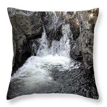 Irish Waterfall Throw Pillow by Patrick J Murphy