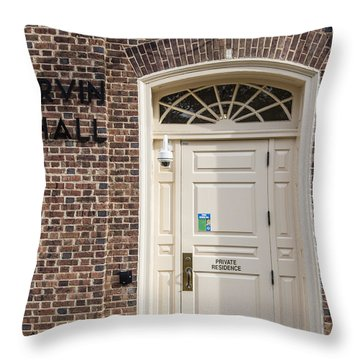 Irvin Hall Penn State  Throw Pillow by John McGraw