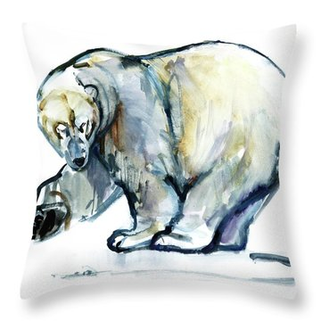 Isbjorn Throw Pillow by Mark Adlington