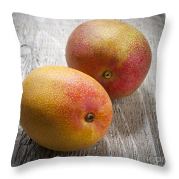It Takes Two To Mango Throw Pillow by Elena Elisseeva