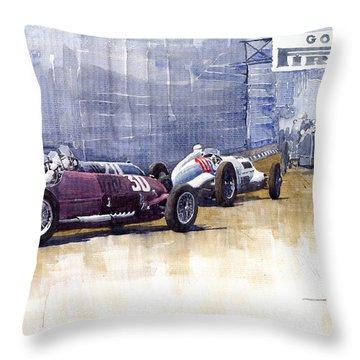 Italian Gp1937 Livorno  Throw Pillow by Yuriy  Shevchuk