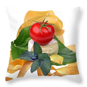 Italian Throw Pillow by Manfred Lutzius