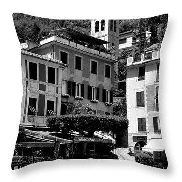 Italian Riviera Throw Pillow by Corinne Rhode