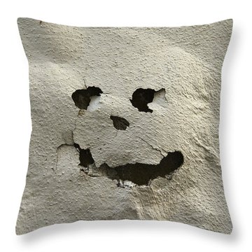 Italy, Tuscany, Florence, Spooky Face Throw Pillow by Keenpress