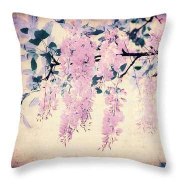 It's Springtime Throw Pillow by Angela Doelling AD DESIGN Photo and PhotoArt