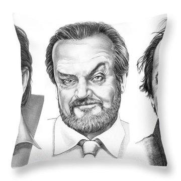 Jack Jack Jack Nickolson Throw Pillow by Murphy Elliott