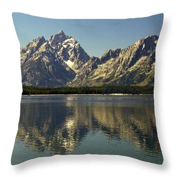 Jackson Lake 2 Throw Pillow by Marty Koch