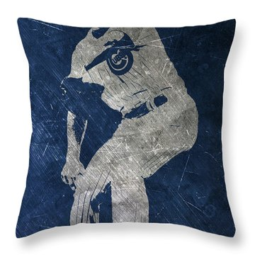 Jake Arrieta Chicago Cubs Art Throw Pillow by Joe Hamilton