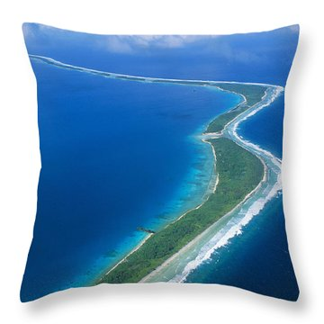 Jaluit Atoll And Lagoon Throw Pillow by Greg Vaughn - Printscapes