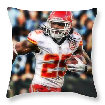 Jamaal Charles Collection Throw Pillow by Marvin Blaine