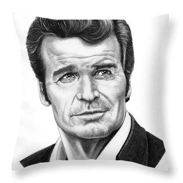 James Garner Throw Pillow by Murphy Elliott
