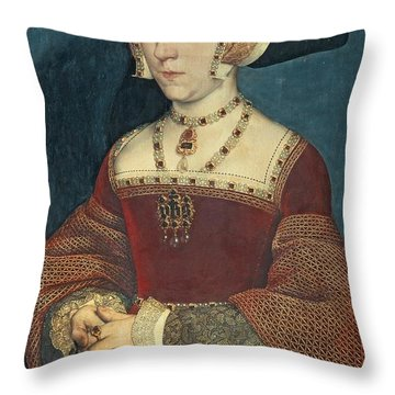 Jane Seymour Throw Pillow by Holbein