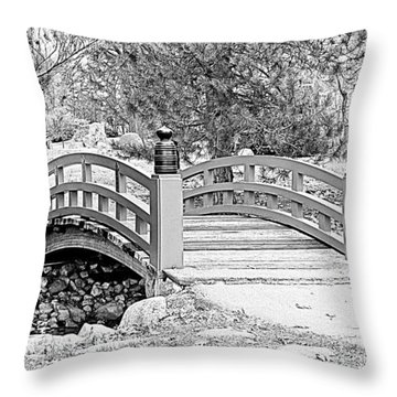 Throw Pillow featuring the photograph Japanese Garden by Rodney Campbell