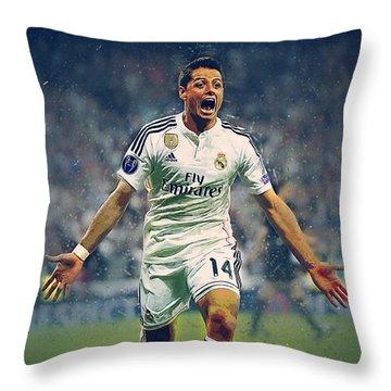 Javier Hernandez Balcazar Throw Pillow by Semih Yurdabak