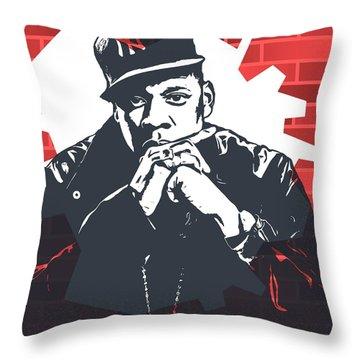Jay Z Graffiti Tribute Throw Pillow by Dan Sproul
