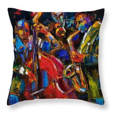 Jazz Throw Pillow by Debra Hurd