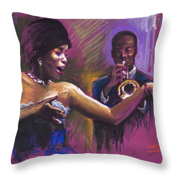Jazz Song.2. Throw Pillow by Yuriy  Shevchuk