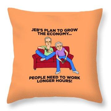 Jeb Bush Throw Pillow by Sean Corcoran
