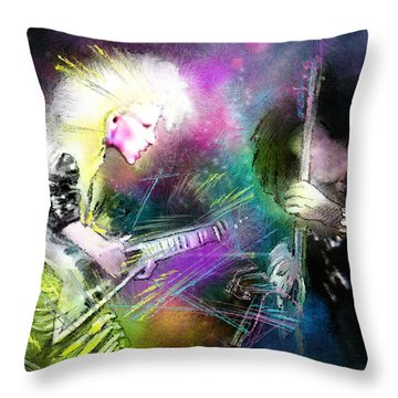 Jennifer Batten Throw Pillow by Miki De Goodaboom
