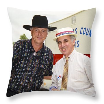 Jerry Jeff Walker And S. David Freeman Throw Pillow by Marilyn Hunt