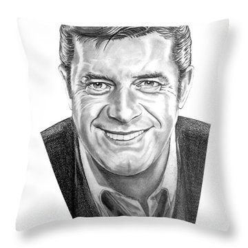 Jerry Lewis Throw Pillow by Murphy Elliott