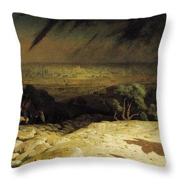 Jerusalem Throw Pillow by Jean Leon Gerome