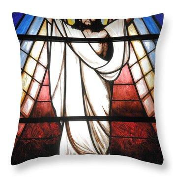 Jesus Is Our Savior Throw Pillow by Gaspar Avila