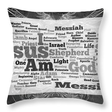 Jesus Messiah Throw Pillow by Angelina Vick