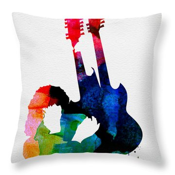 Jimmy Watercolor Throw Pillow by Naxart Studio