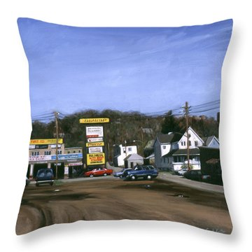 Jimmy's Alltire Throw Pillow by Sarah Yuster