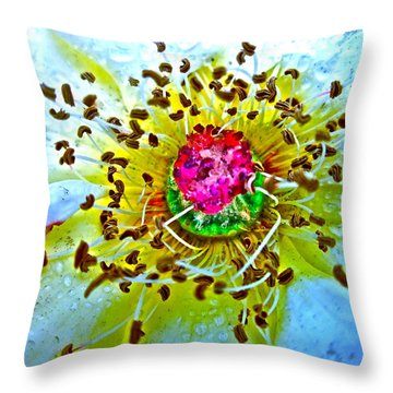 Jive Throw Pillow by Gwyn Newcombe