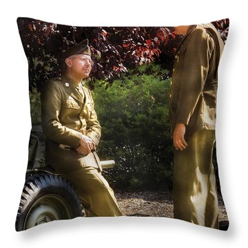 Job - Army - Remembrance  Throw Pillow by Mike Savad