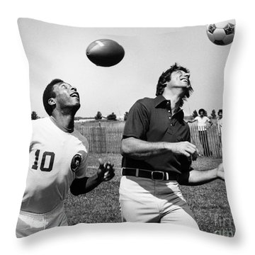 Joe Namath (1943- ) Throw Pillow by Granger