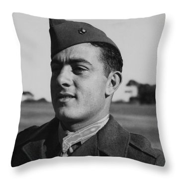 John Basilone Throw Pillow by War Is Hell Store