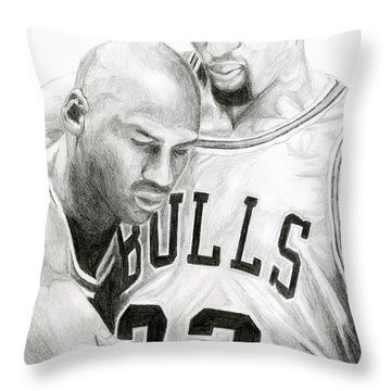 Jordan Will To Win Throw Pillow by Tamir Barkan