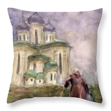 Journey Throw Pillow by Svetlana Novikova