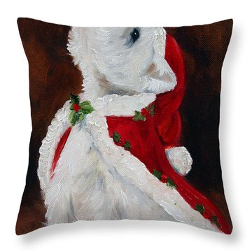 Joy To The World Throw Pillow by Mary Sparrow